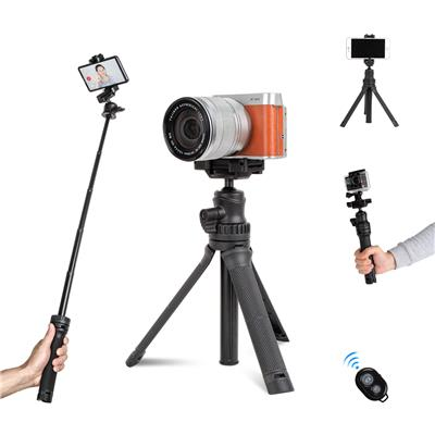 Mini Desktop Tripod for Camera and Phone Small Extension Pole Selfie Stick